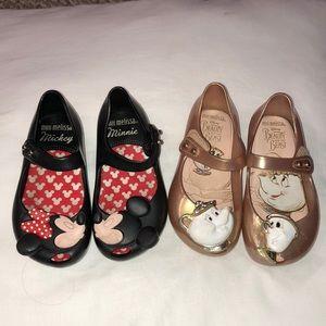 Mini Melissa shoes, both size 7, EUC